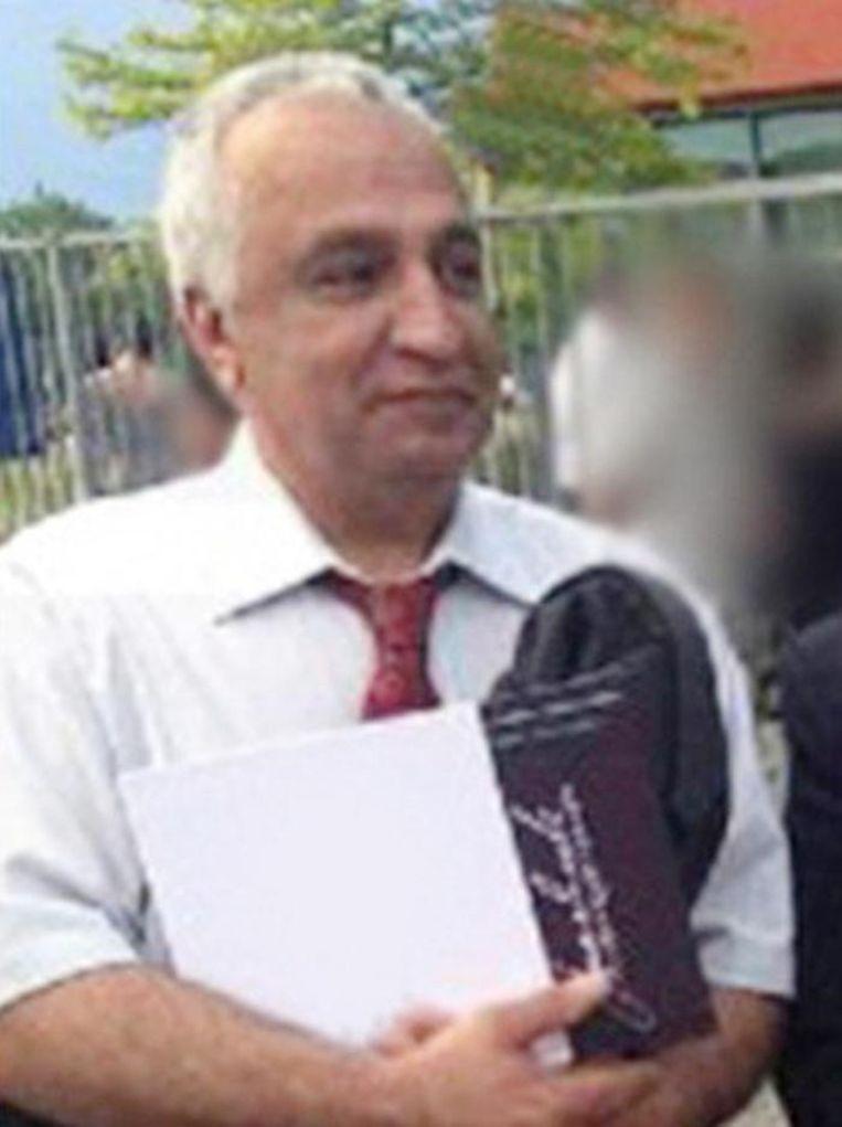 Mohammad Reza Kolahi Samadi leefde als Ali Motamed in Almere. Hij werd in Iran gezocht in verband met een grote bomaanslag in 1981 Beeld Politie