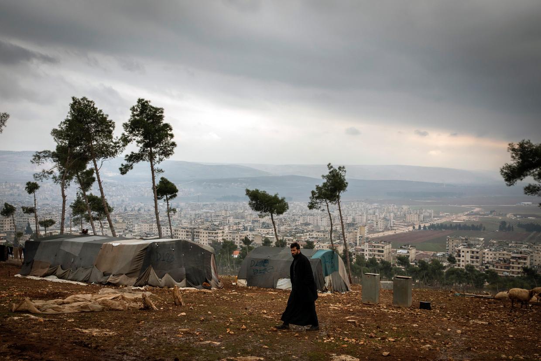 Het Turkse gezag in Afrin kampt met aanhoudende terreuraanvallen, 134 in tweeënhalf jaar. Deze maand alleen al ontploften er vier autobommen. Beeld Hollandse Hoogte / The New York Times Syndication