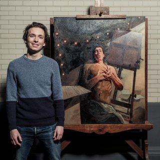 Toch één schilderij te zien in het Rijksmuseum: van   Wolf Hekkema