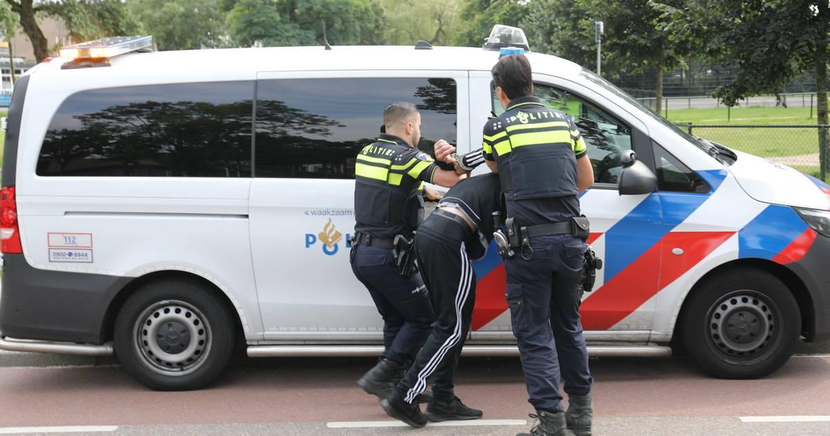 Agenten bewerken lastige omstander met wapenstok na ongeval in Apeldoorn.