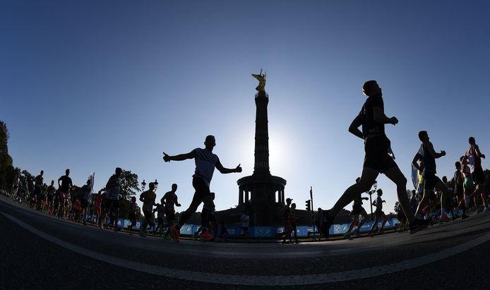 De marathon van Berlijn.