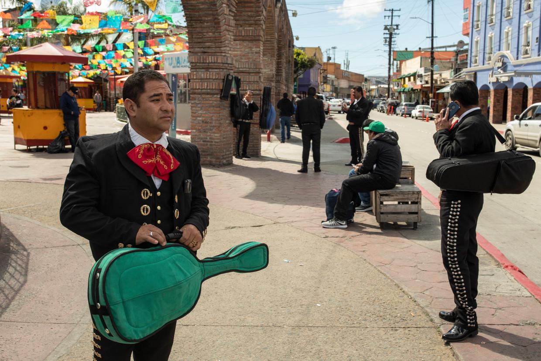 Het meest verloren ogen de mariachi's. Beeld Alejandro Cegarra