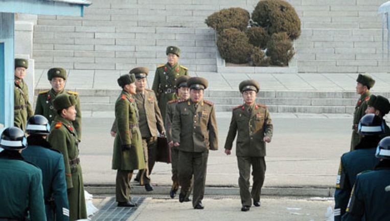 De gesprekken dienen als voorbereiding op een militair topoverleg tussen de twee landen. Foto EPA Beeld