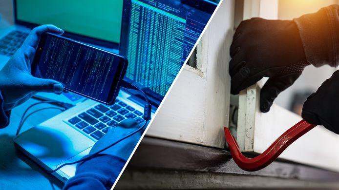 Vorig jaar zijn voor het eerst meer aan internet gelieerde delicten geregistreerd dan woninginbraken.