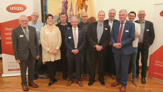 Een delegatie van Unizo Lier tijdens de receptie voor de honderdste verjaardag.