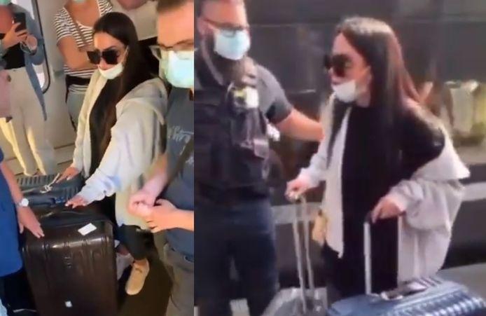Milla Jasmine a été escortée par deux membres de la sécurité de la SNCF.