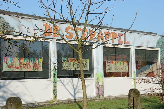 Leefschool De Sterappel toont zich enthousiast over de fietsstraat en liet dit ook duidelijk blijken aan de Sint.