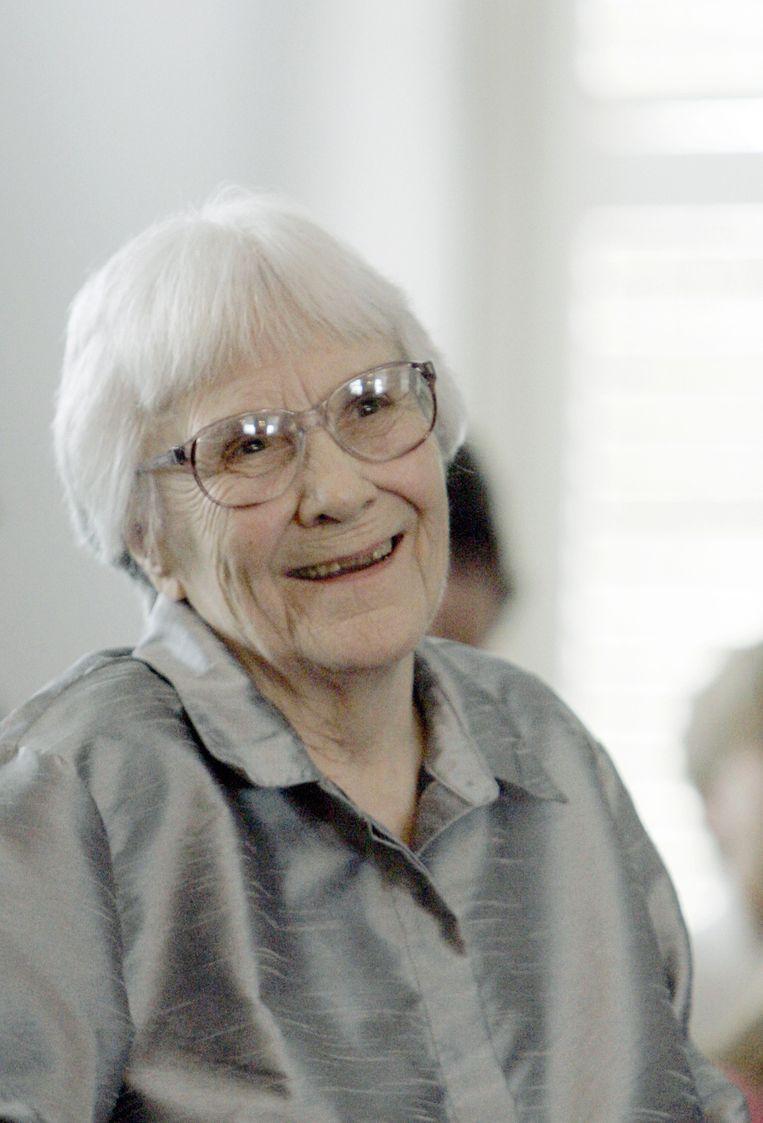 Harper Lee in 2007. Beeld ap