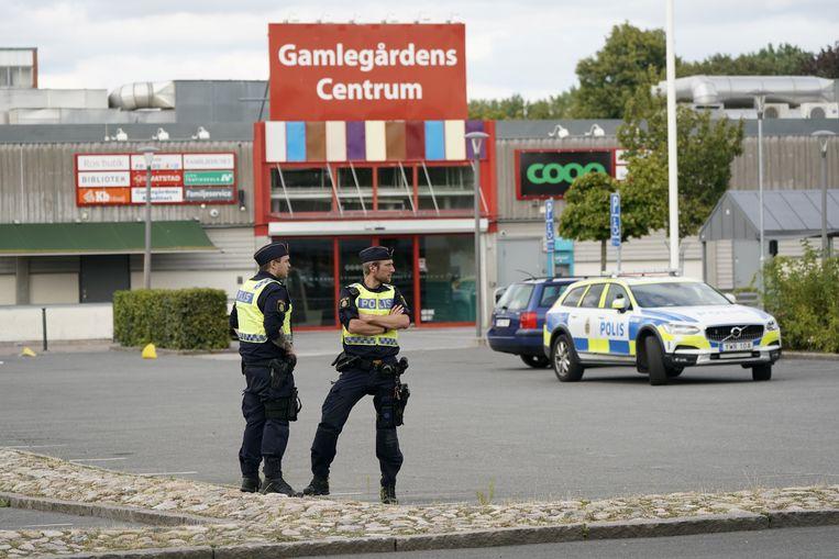 Politie ter plaatse in Kristianstad. Beeld via REUTERS