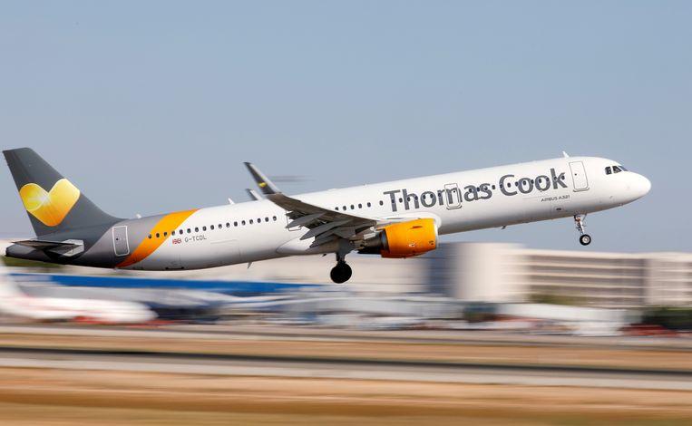 In België heeft Thomas Cook geen eigen luchtvaartmaatschappij meer. Die werd in 2017 grotendeels overgenomen door Brussels Airlines.  Beeld REUTERS