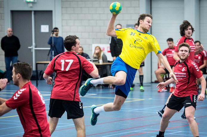 Archiefbeeld van de wedstrijd tussen Hastu en Reehorst.
