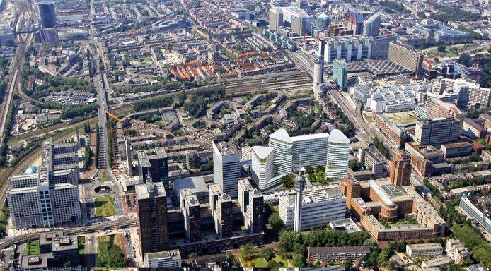 Het Central Innovation District in Den Haag, op de grens met Voorburg