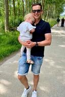 Erwin Warnies was bijna twee jaar geleden vader geworden van Fleur.