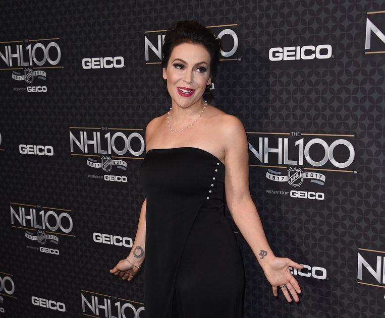 Actrice Alyssa Milano begon met de hashtag #metoo op Twitter. Beeld afp