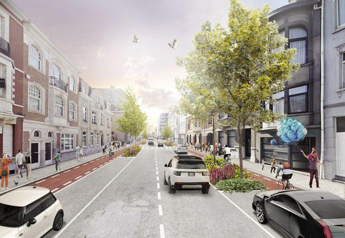 Een impressie van de toekomstige Leopoldstraat