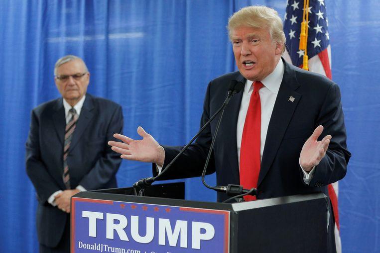 De Amerikaanse president Donald Trump zaterdag in Marshalltown, Iowa Beeld REUTERS