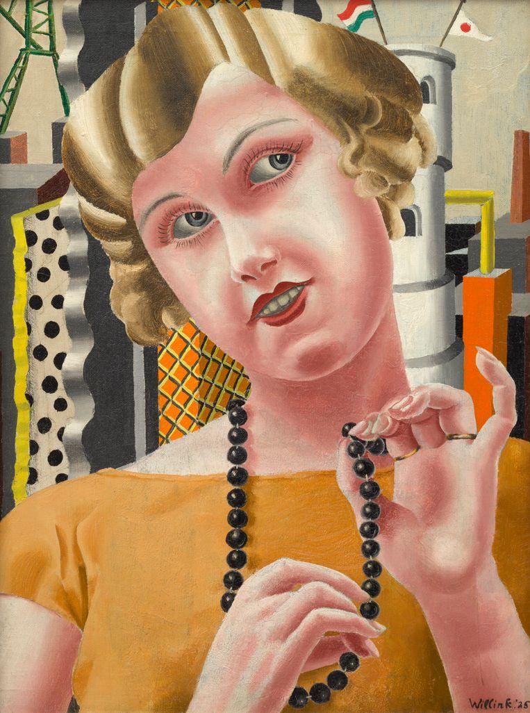 'Kralenmeisje' (onderwijzeres Mies van der Meulen), uit 1925. Beeld RV