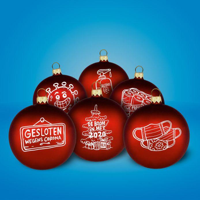 De boom in met 2020! Daarom lieten we bij HLN deze kerstballen maken en jij kan zo'n set winnen!