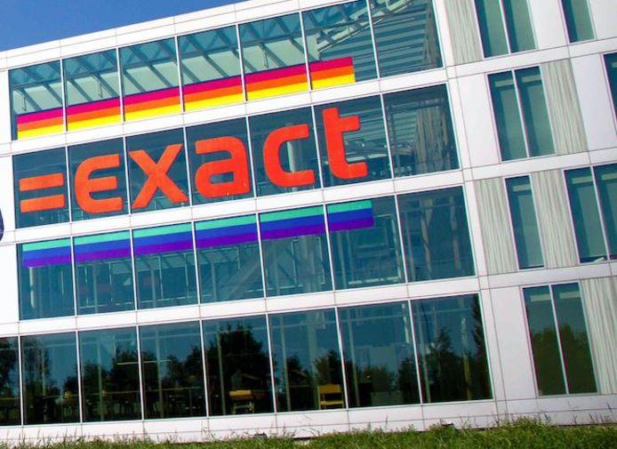 De regenboogkleuren bij softwarebedrijf Exact voor dit jaar.