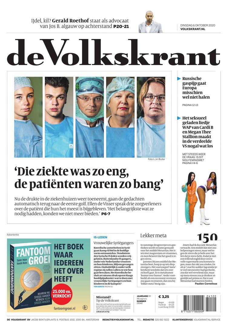 De Volkskrant van 6 oktober, die lezer Franck Verhoeks boos maakte. Beeld