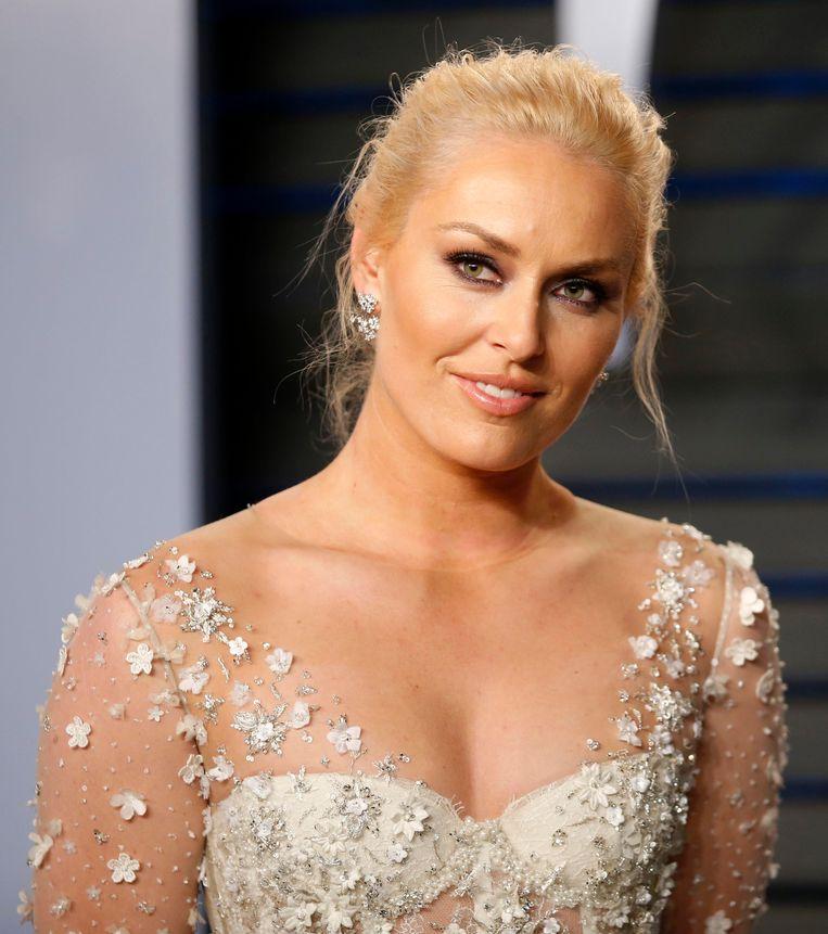 Lindsey Vonn op het Oscarfeestje van Vanity Fair.