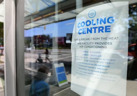 Centre de rafraîchissement climatisé (Vancouver, 30 juin)