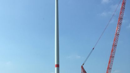 Bouw eerste windturbine bijna klaar
