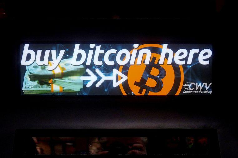 Een Bitcoin-advertentie in New York. Beeld REUTERS