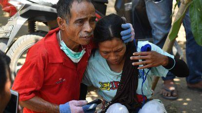 Opnieuw zware aardbeving op Lombok: mensen in paniek op straat