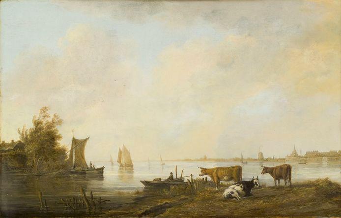 Aelbert Cuyp, Riviergezicht bij Dordrecht, ca 1644-45.