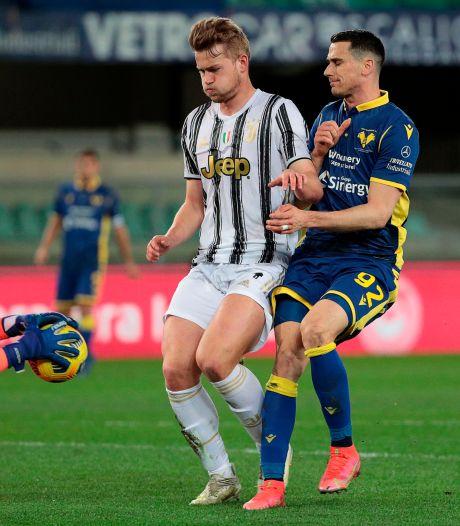 De Ligt en Juventus krijgen late tik van Hellas Verona