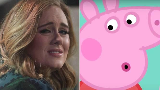 """Adele door het stof omdat ze tekenfilmfiguurtje Peppa Pig beledigde: """"Dit maakt me heel, heel verdrietig"""""""