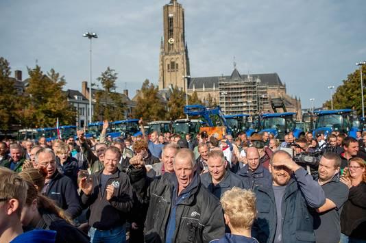Boerenprotesten in Arnhem, eind 2019.