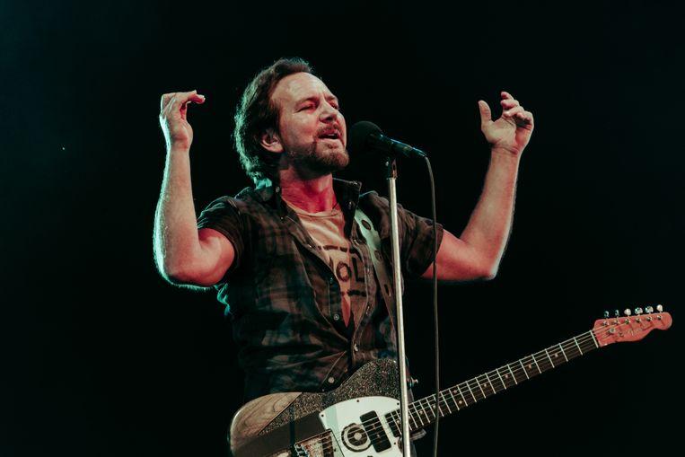 Eddie Vedder van Pearl Jam. Beeld Illias Teirlinck