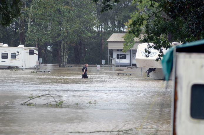 In Magnolia, Mississippi liep onder meer dit kampeerterrein onder water.