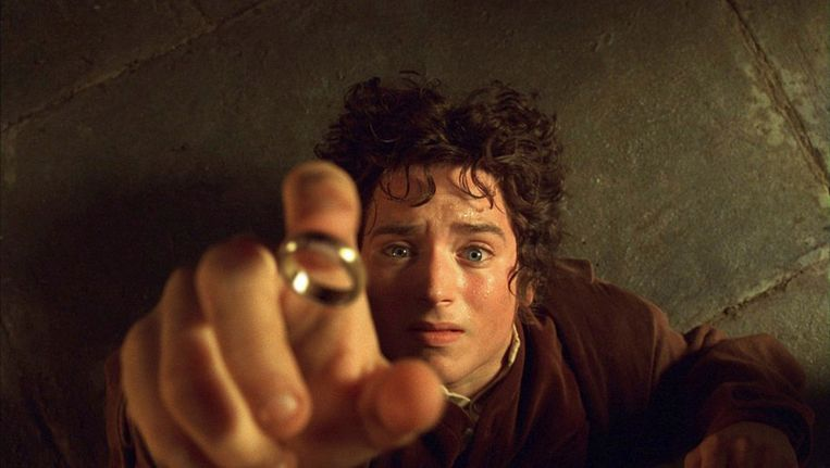 Elijah Wood als de hobbit Frodo in 'Lord Of The Rings'. Beeld Reuters