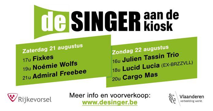 De affiche van het tweedaagse festival van De Singer