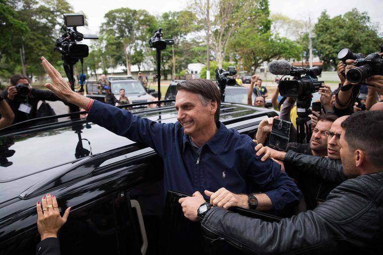 De extreemrechtse kandidaat Jair Bolsonaro. Beeld AFP