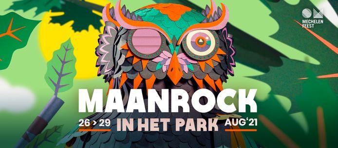 Het beeld van Maanrock in het park