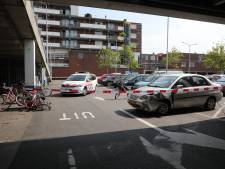 Auto ramt fietsenstalling aan de Elandstraat