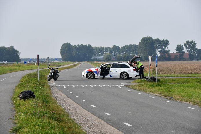 De kruising waar het ongeluk plaatsvond.