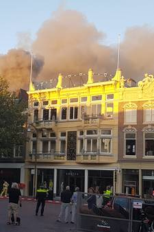 Ontruimingen na grote brand in Deventer