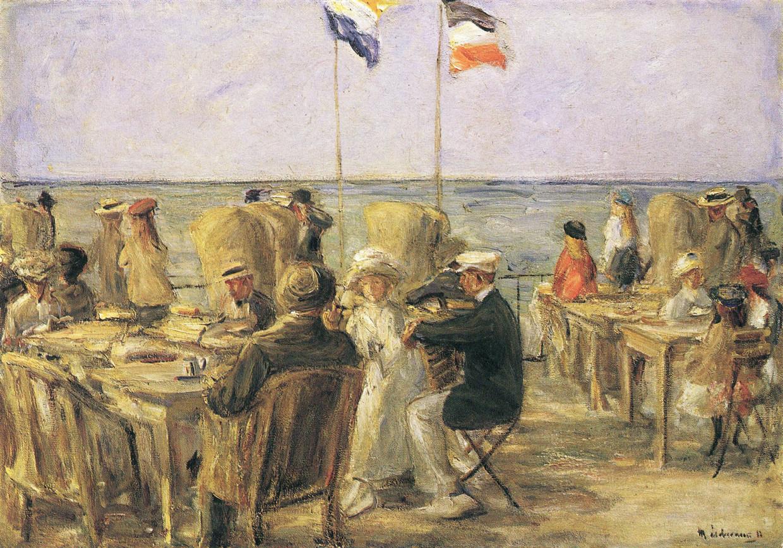 Max Liebermann, 'Strandterras in Noordwijk', 1913. Beeld