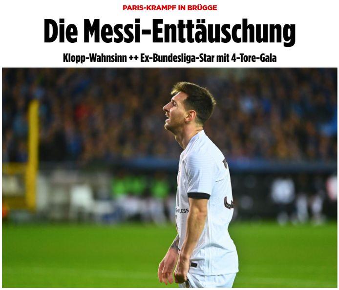 'De Messi-teleurstelling', kopt Bild.