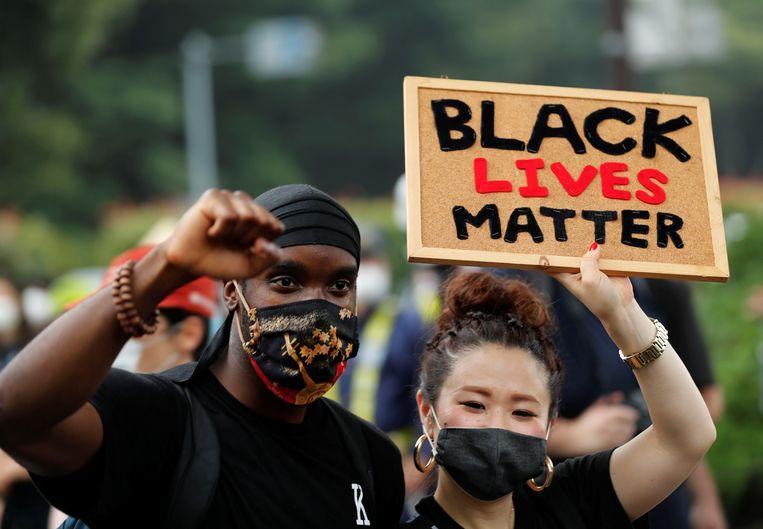Een Black Lives Matter-demonstratie in juni in Tokio. Beeld Reuters