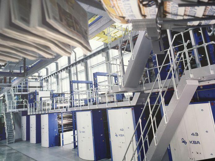 De hypermoderne drukkerij van De Persgroep in Lokeren