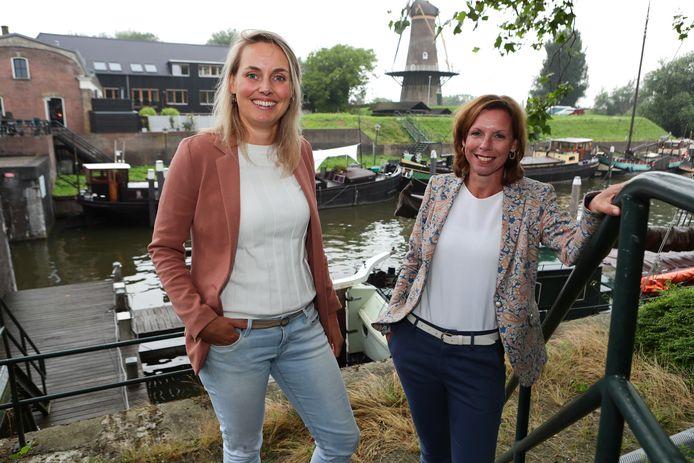 Margreeth de Bruijn-Marchand (links) en Monique Branderhorst-Spek.