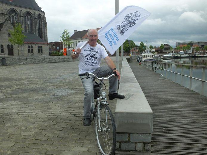 Freddy Tack is klaar voor zijn derde wandel- fiets- en loopevent ten voordele van Kinderkankerfonds.