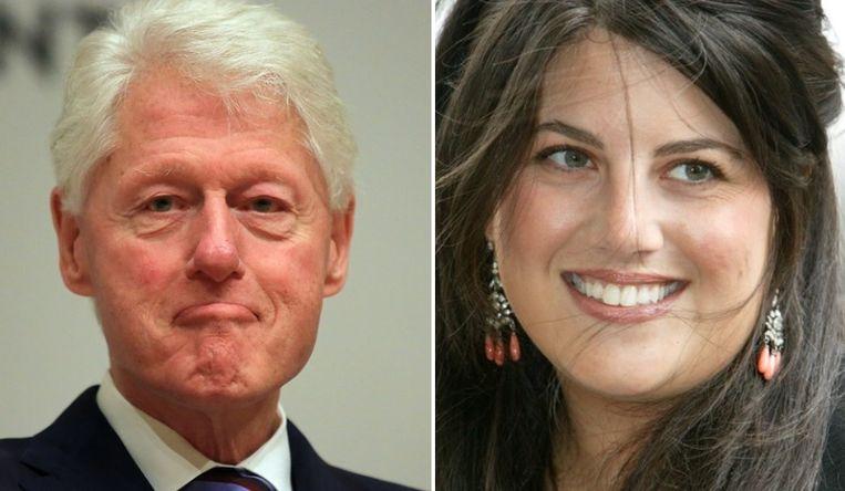 Bill Clinton en Monica Lewinsky. Beeld Photo News