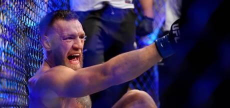 Gewonde Conor McGregor beledigt vrouw Poirier tot op het bot en krijgt middelvinger bij verlaten zaal